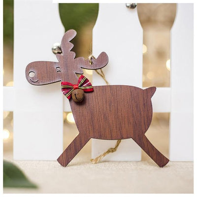 San Diego Art House C Christmas Deer Wooden Pendants