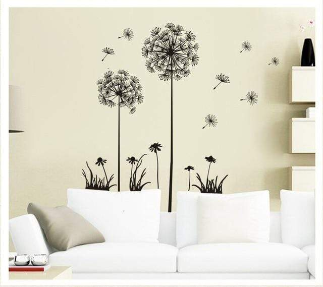 Christmas wall sticker / Romantic dandelion - san-diego-art-house