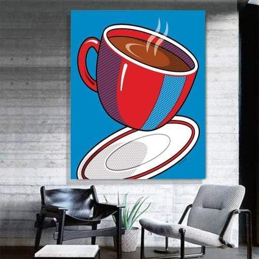 CANVAS ART LAB Coffee Red Mug Canvas Art
