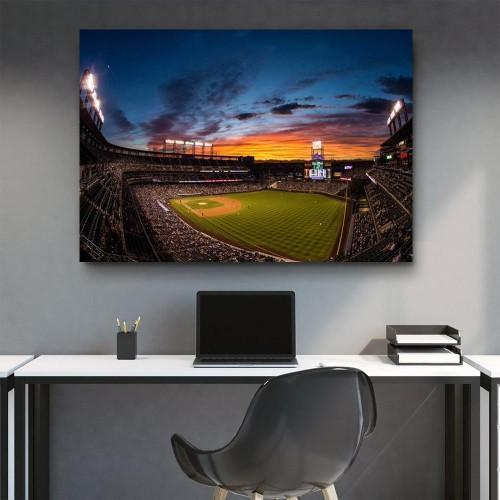 CANVAS ART LAB Coors Field At Night Canvas Set