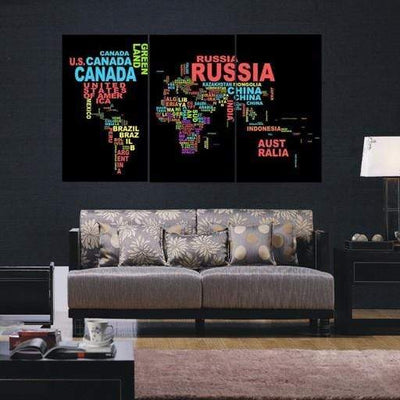 Countries of the World Canvas Set - san-diego-art-house