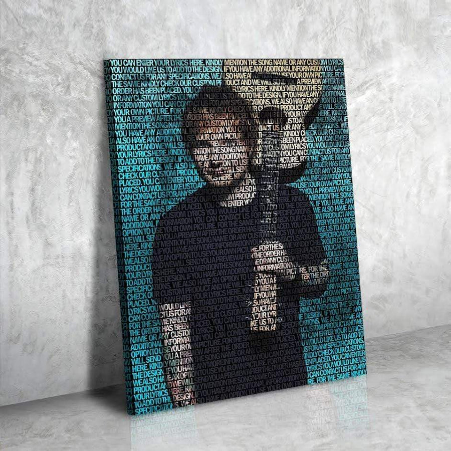 Ed Sheeran Lyrical Canvas | Song Lyrics Canvas Art | Custom Music Canvas Art | Hip Hop Art - san-diego-art-house