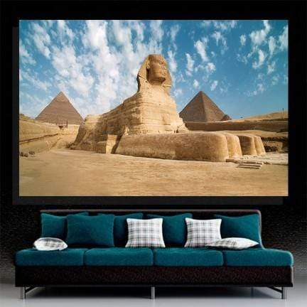 Egypt Giza Sphinx with pyramids Canvas Set