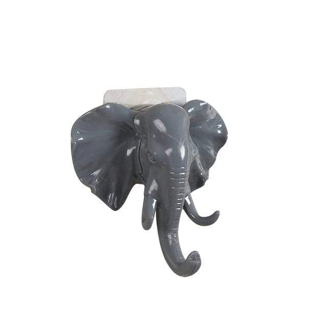 Elephant Head Animal Wall Door Clothing Hook - san-diego-art-house