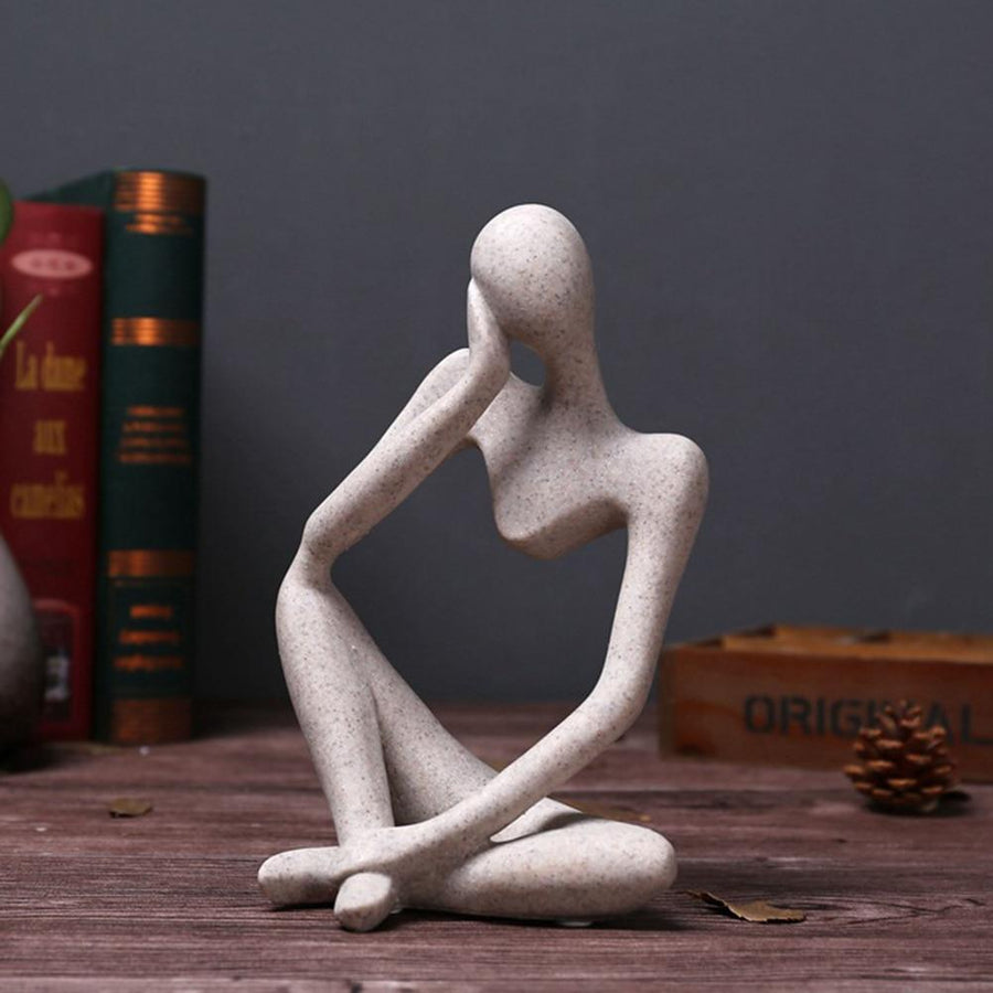 European Style Abstract Thinker Statue Sculpture Figurine Office Home Decor - san-diego-art-house