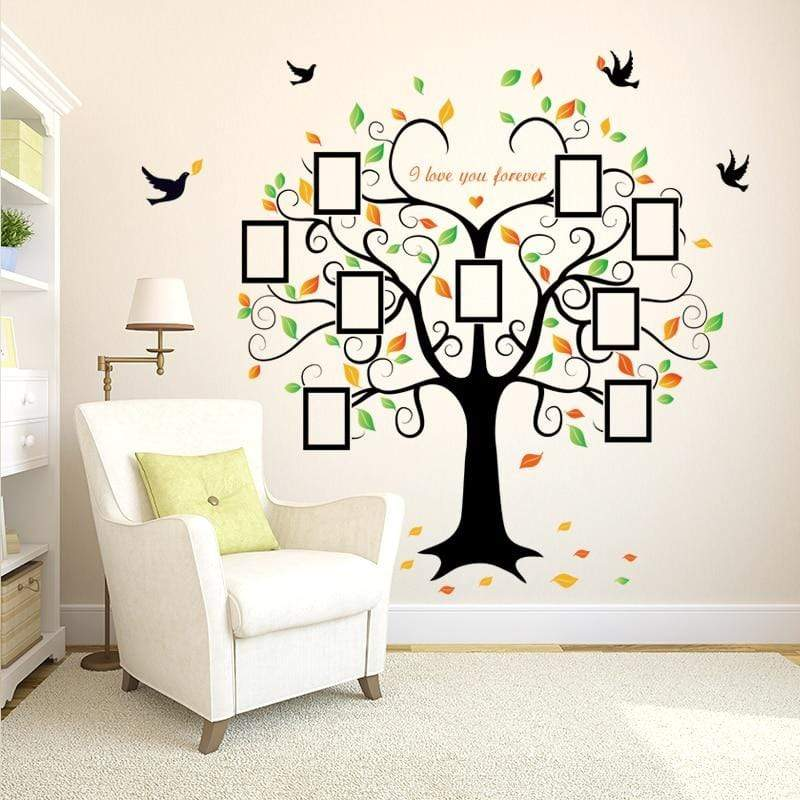 Family Tree Photo Frame Wall Sticker - san-diego-art-house