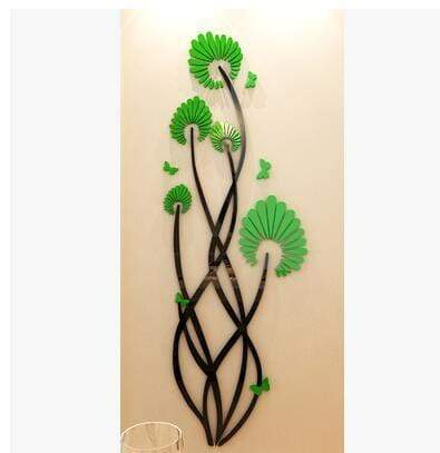 Flower dance 3D Acrylic wall stickers - san-diego-art-house
