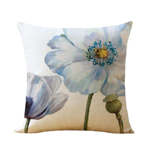 Flower Printing cushion cover - San Diego Art House