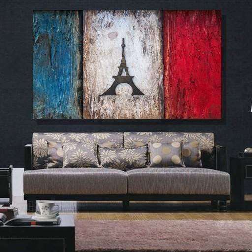 France Flag Canvas Set