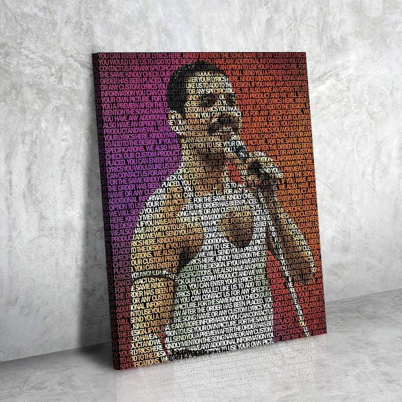Freddie Mercury Lyrical Canvas | Song Lyrics Canvas Art | Custom Music Canvas Art | Hip Hop Art