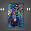 Girl in Trippy Background Canvas Art - San Diego Art House