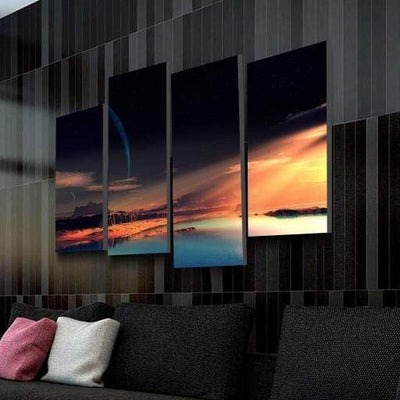 Golden Nature Canvas Set - San Diego Art House