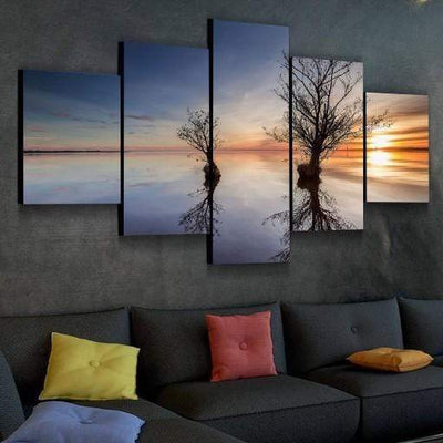 Golden Sunrise Canvas Set - San Diego Art House