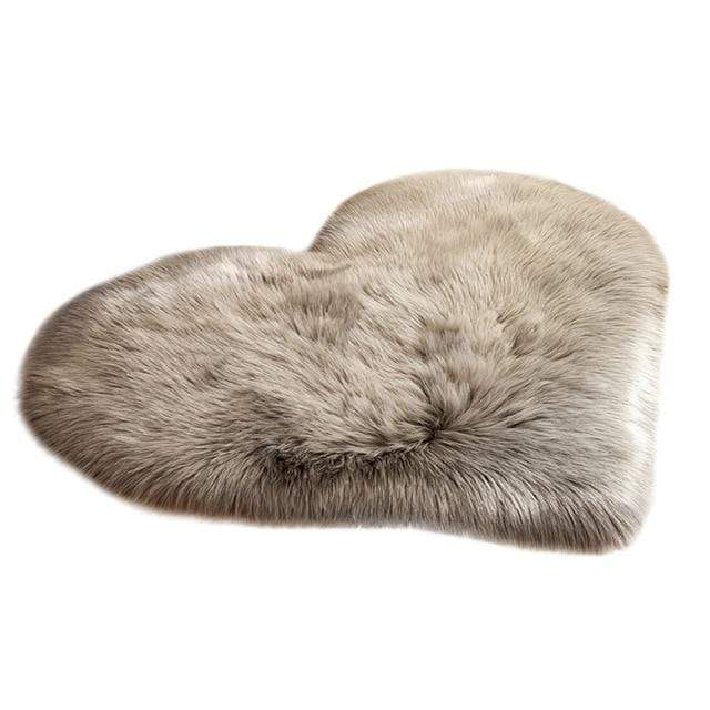 Heart Shape Fluffy Mats
