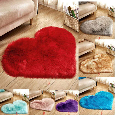 Heart Shape Fluffy Mats - san-diego-art-house