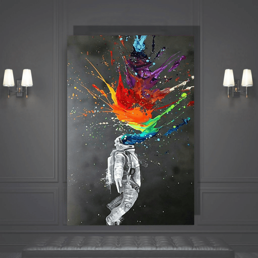 High in Space Canvas Art