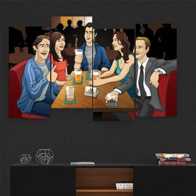 How I Met Your Mother Canvas Set - San Diego Art House