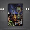 Indian God and Astronaut Illuminati Canvas Art - san-diego-art-house