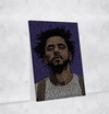 J Cole Canvas | Song Lyrics Canvas Art | Custom Music Canvas Art | Hip Hop Art - san-diego-art-house