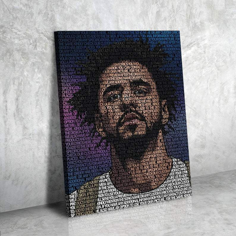 J Cole Lyrical Canvas | Song Lyrics Canvas Art | Custom Music Canvas Art | Hip Hop Art