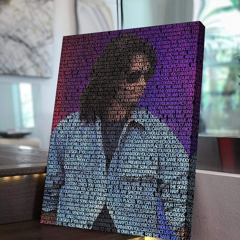 Jim Morrison Lyrical Canvas | Song Lyrics Canvas Art | Custom Music Canvas Art | Hip Hop Art