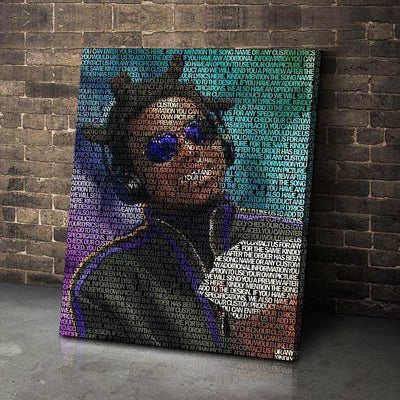 Kodak Lyrical Canvas | Song Lyrics Canvas Art | Custom Music Canvas Art | Hip Hop Art - san-diego-art-house