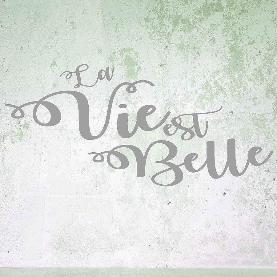 La Vie est Belle Vinyl Wall Sticker - san-diego-art-house