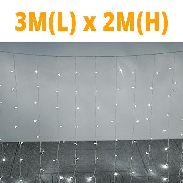 LED Lamp Curtain light Ring Home Holiday Christmas Decoration Led String Fairy Garland Party Lights