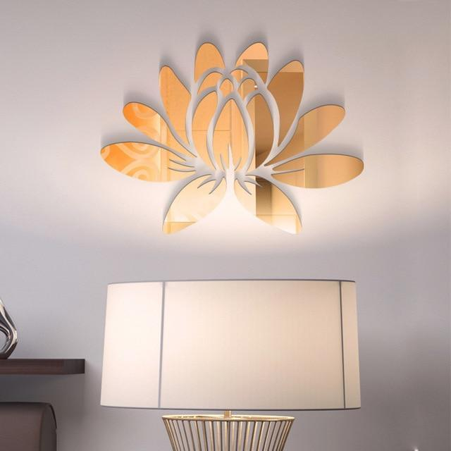 Lotus Flower Mirror Wall Stickers - san-diego-art-house