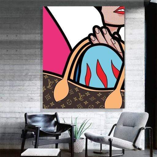 CANVAS ART LAB Louis Vuitton Pop Art Bag Canvas