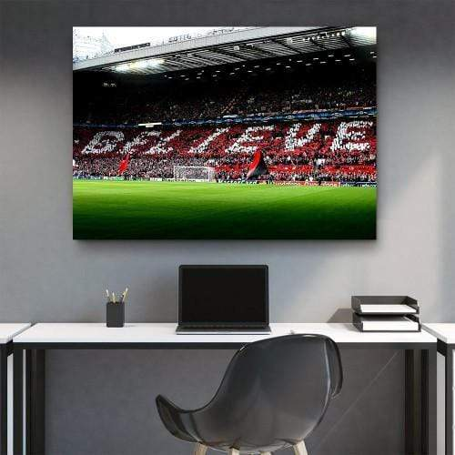 CANVAS ART LAB Manchester United Old Trafford | BELIEVE Canvas Set