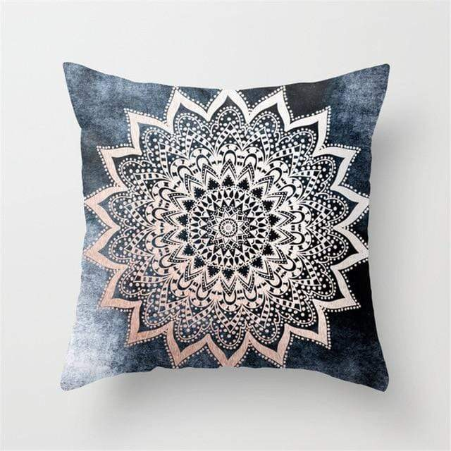 Mandala Cushion Cover / Bohemian Style Geometric Pillow Case