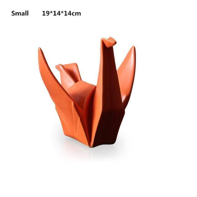Nordic Creative Modern Abstract Ceramic Origami Statue - san-diego-art-house