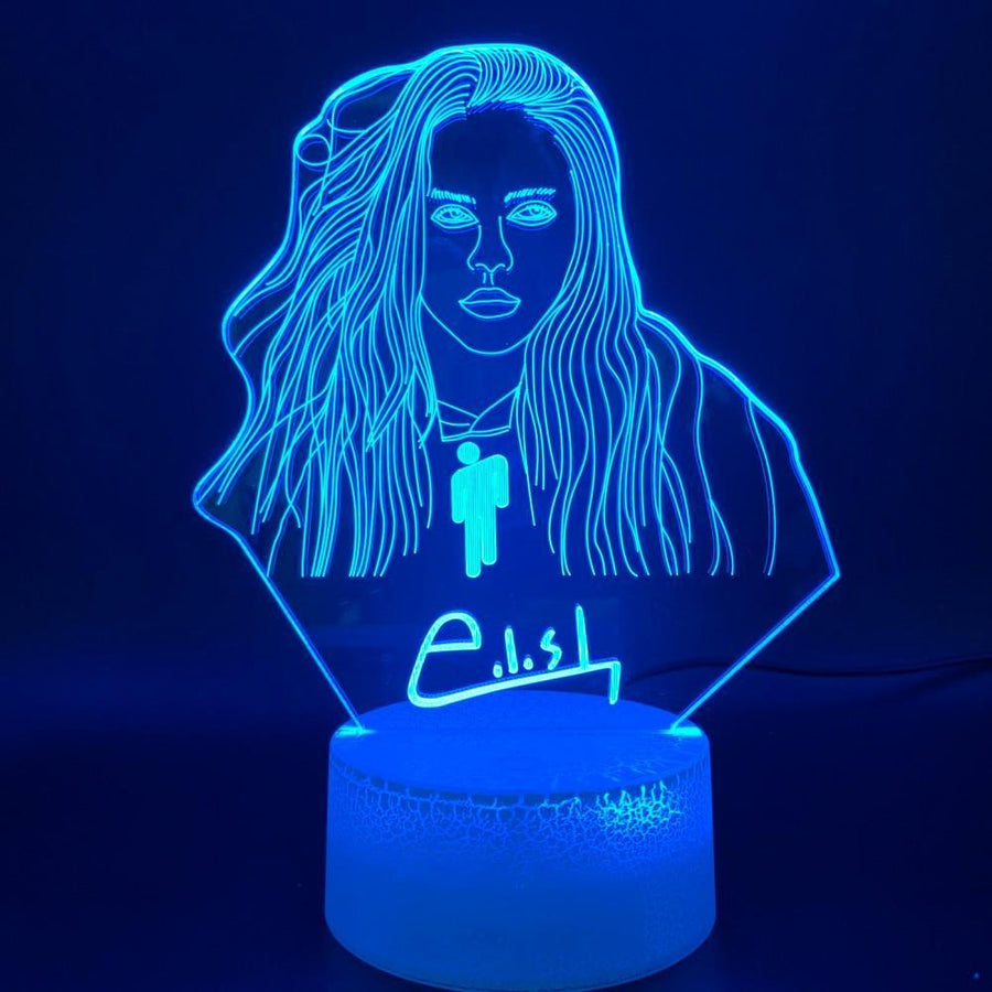san-diego-art-house - Novelty Lights Billie Eilish - San Diego Art House - led home decor