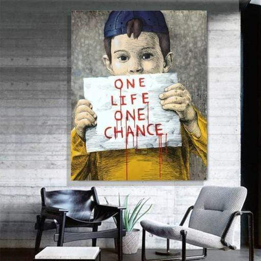 One Life One Chance Pop Art Canvas
