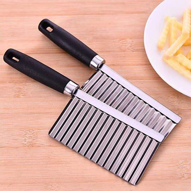 Potato Wavy Edged Knife / Stainless Steel Kitchen Gadget