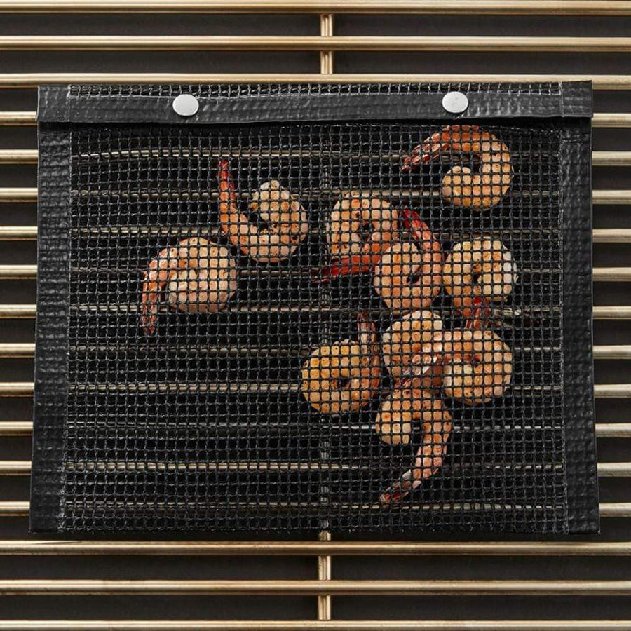 Reusable Non-Stick BBQ Mesh Grilling Bag Mat Pad - san-diego-art-house