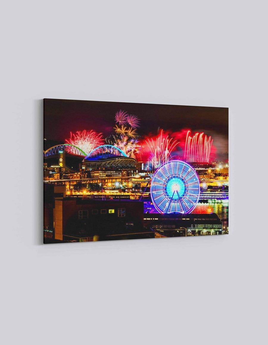Seattle 4th July Celebration | American Independence Day | 01 | Canvas Art