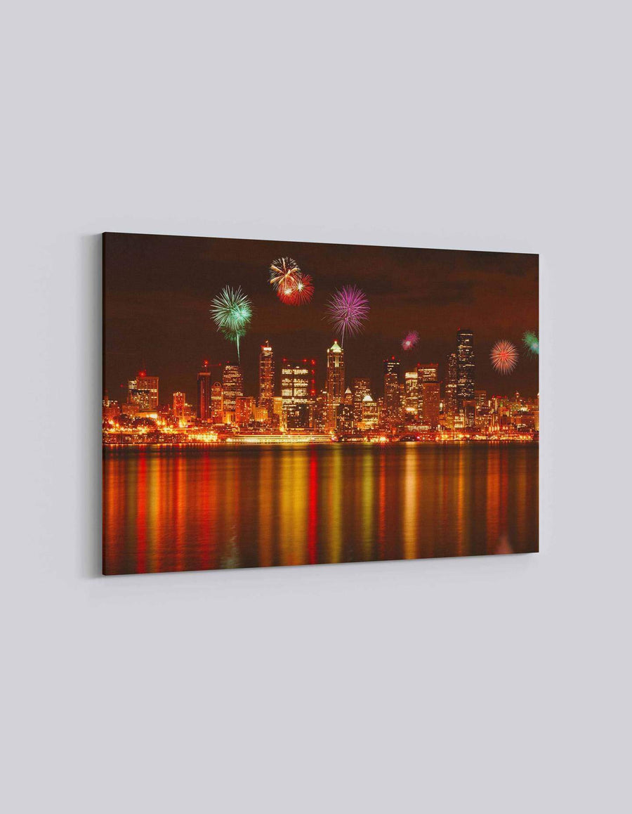 Seattle 4th July Celebration | American Independence Day | 02 | Canvas Art