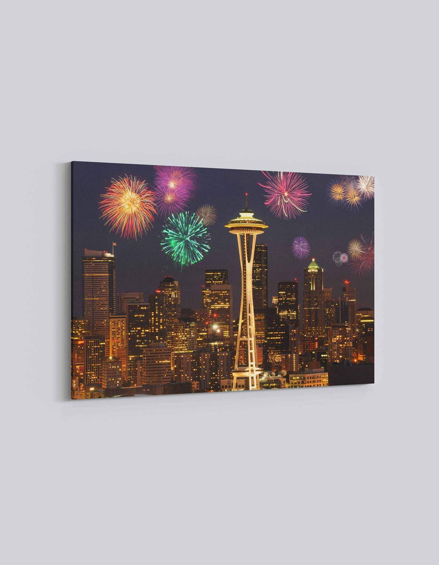 Seattle 4th July Celebration | American Independence Day | 03 | Canvas Art