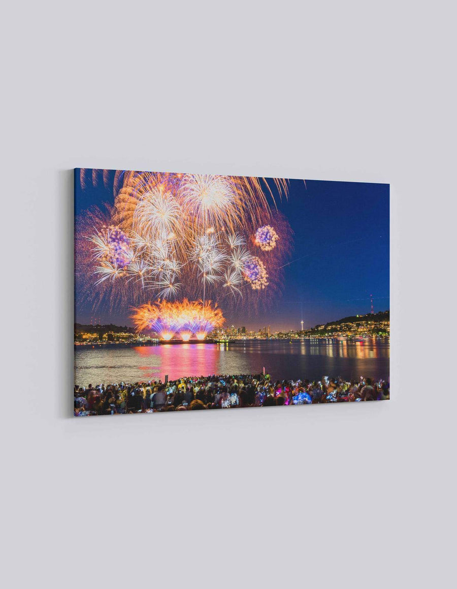 Seattle 4th July Celebration | American Independence Day | 04 | Canvas Art