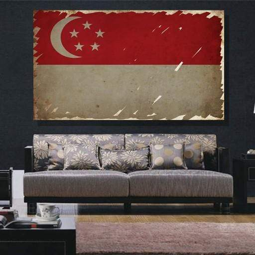 Singapore Flag Canvas Set