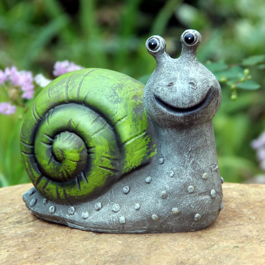 Solar Powered Snail Lamp - san-diego-art-house
