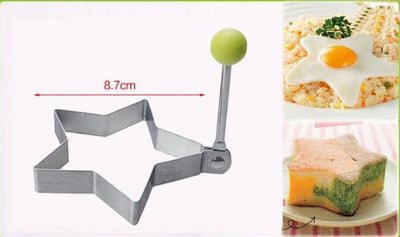 Stainless Steel Fried Egg Mold / Pancake Bread / Fruit and Vegetable Shape Decoration - san-diego-art-house