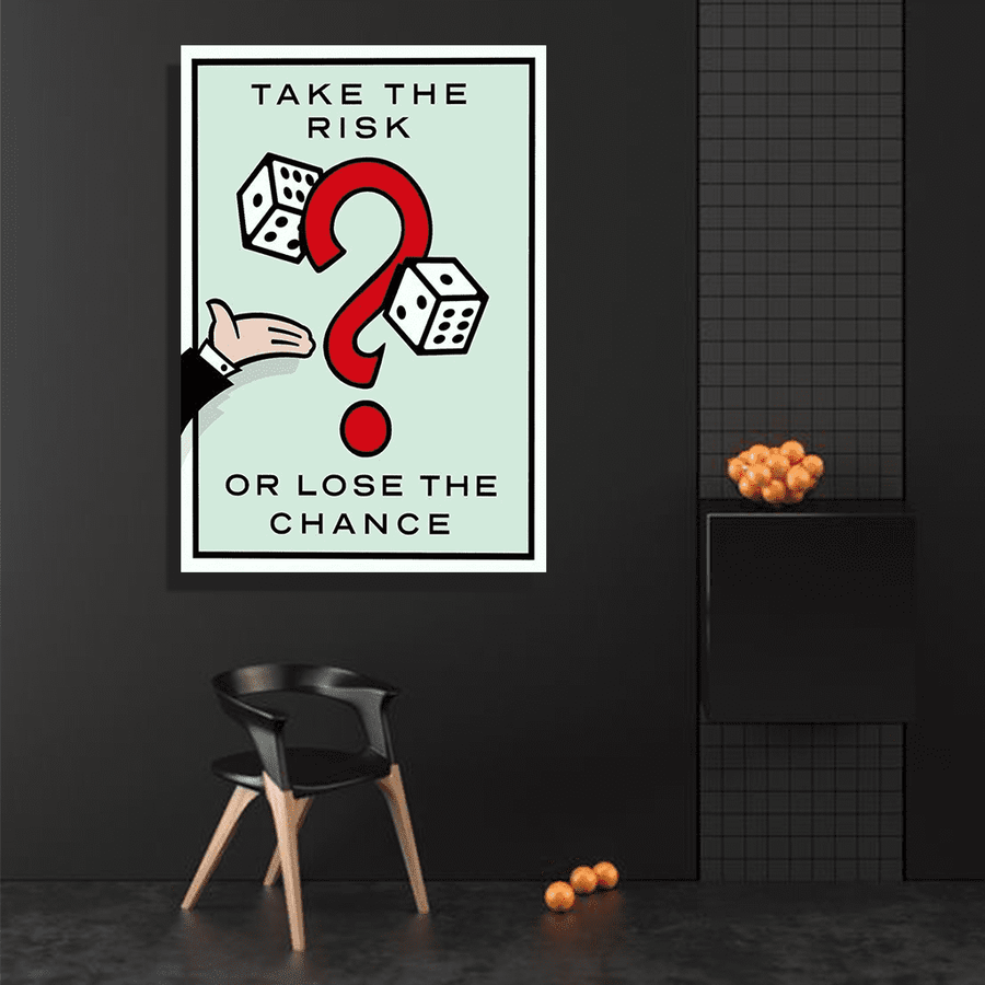 Take The Risk Canvas Art