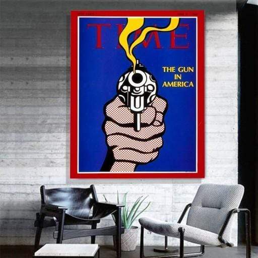 Time Pop Art Canvas Art