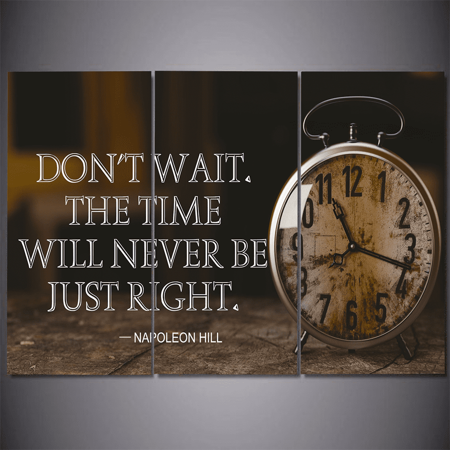 Time Will Never Be Just Right Canvas Set