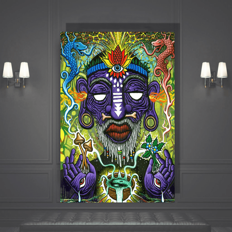Trippy Illuminati Canvas Art