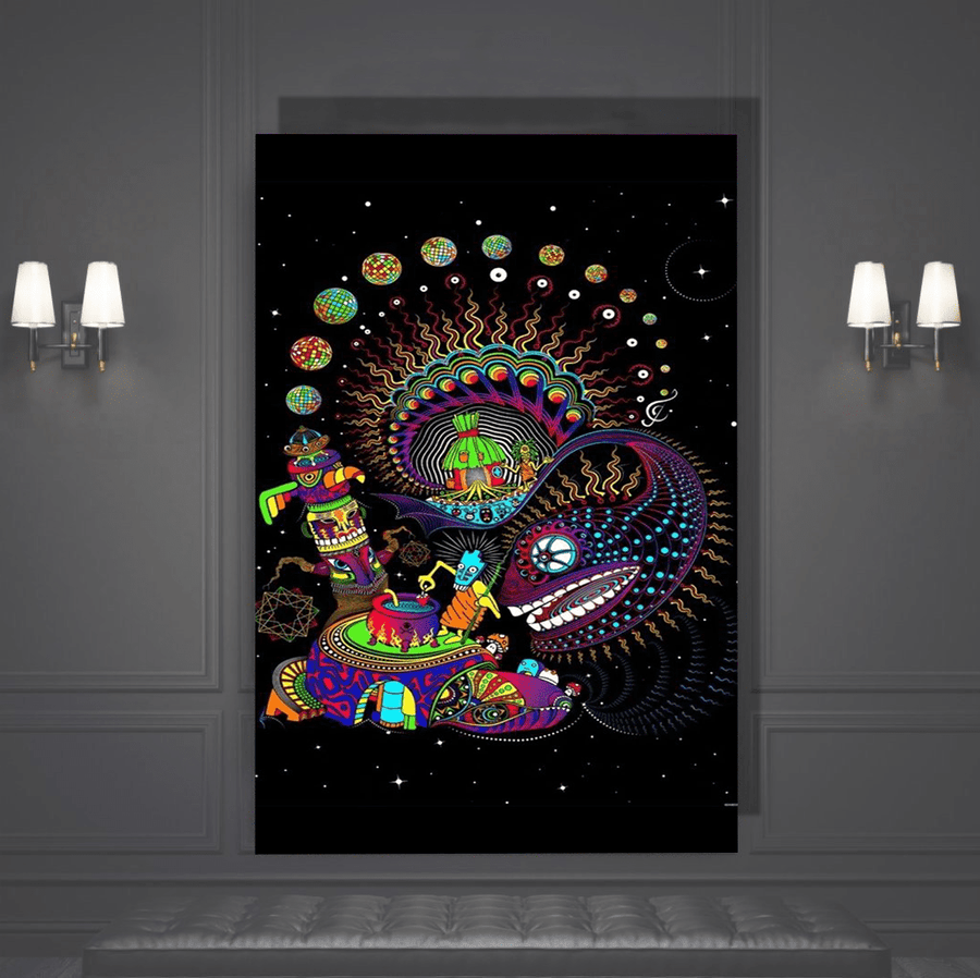 Trippy Snake Canvas Art