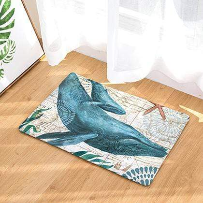 Turtle Print Mats Hippo campus octopus whale Pattern doormat
